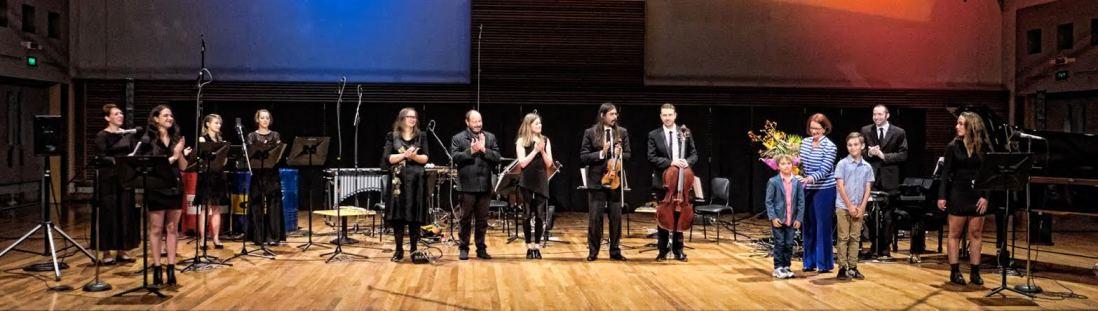 After Julia concert with Decibel ensemble