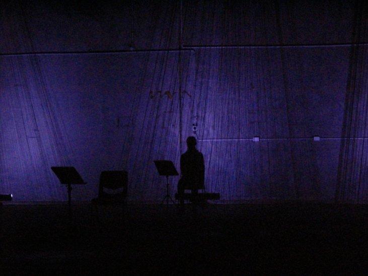 Three Voices, Sydney Fringe Festival 2017. Lighting by Roderick Van Gelder, design by Elia Bosshard